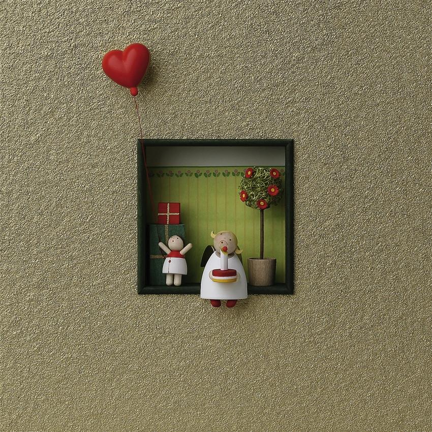 wandbild herzlichen gl ckwunsch mit herz erzgebirgskunst. Black Bedroom Furniture Sets. Home Design Ideas