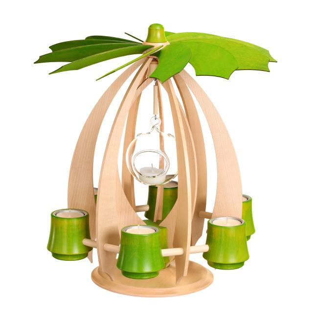 schwebepyramide nova ahorn lindgr n erzgebirgskunst drechsel. Black Bedroom Furniture Sets. Home Design Ideas