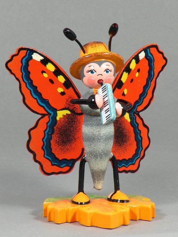 Hubrig Schmetterling Großer Fuchs mit Melodika 307h0045