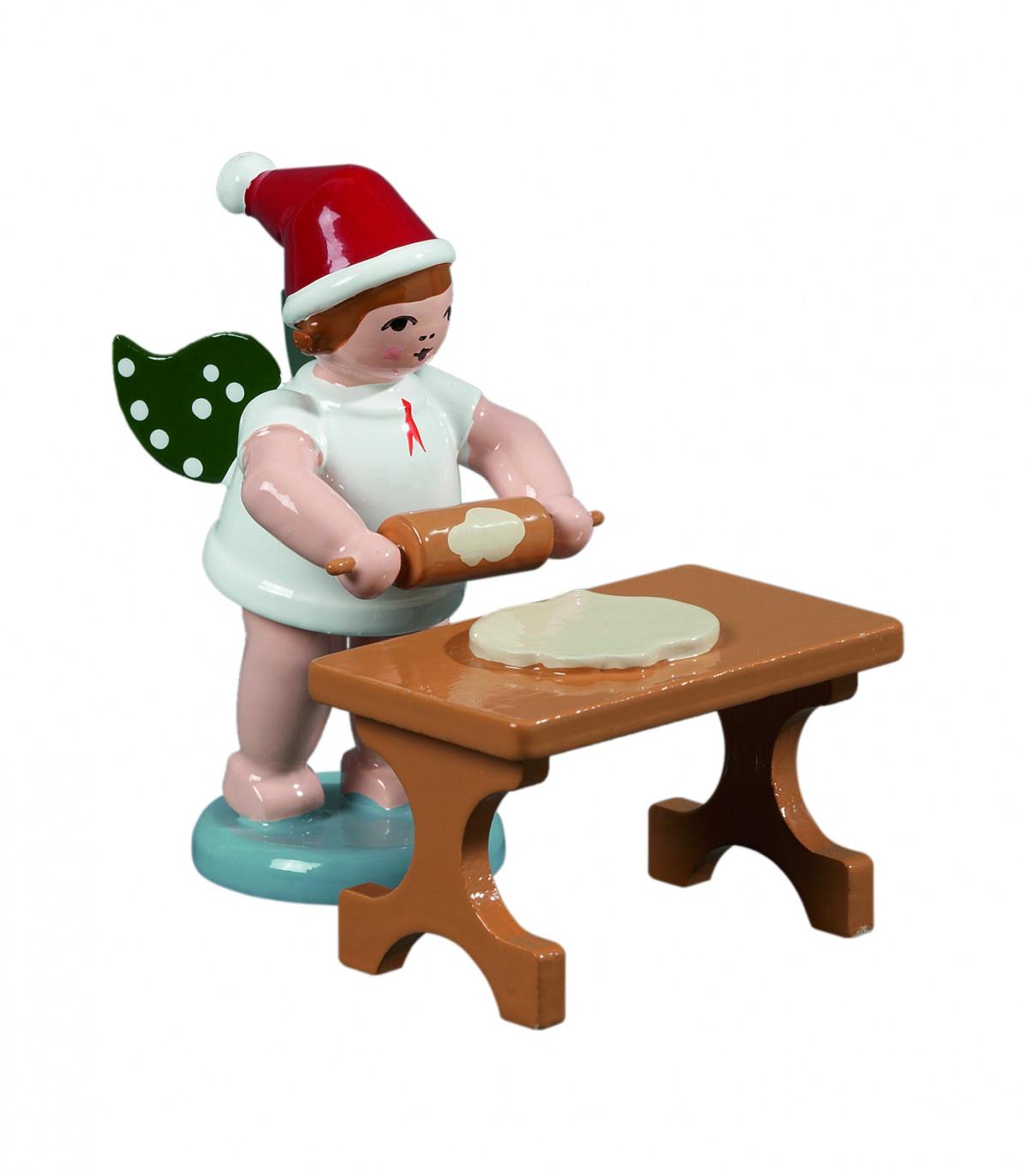 Tisch Ohne Füße ~ Weihnachtsengel mit Teigrolle am Tisch ohne Krone ♦ Engelfiguren ♦ Engel ♦ We