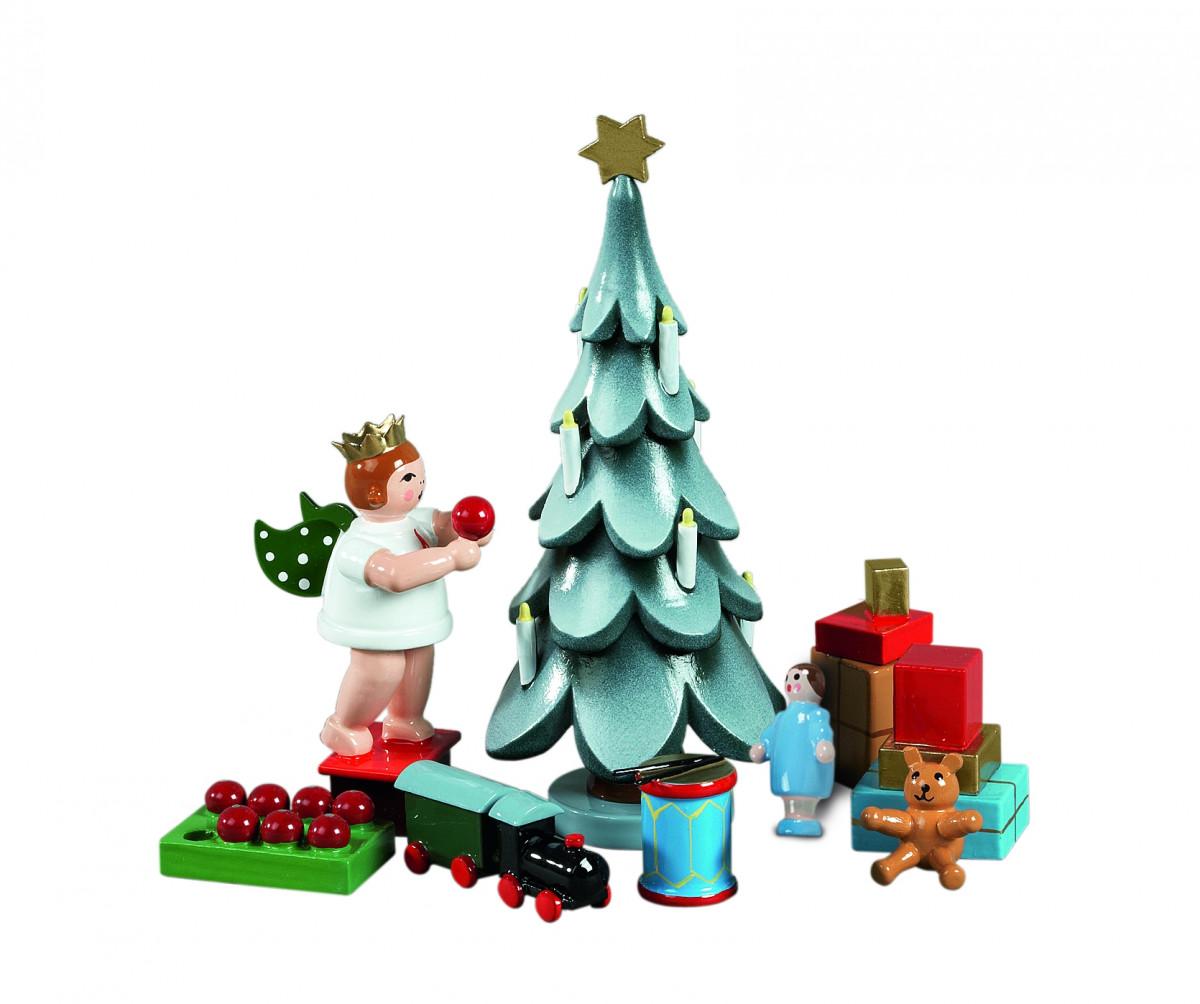 weihnachtsbaum mit stern und kerzen erzgebirgskunst drechsel. Black Bedroom Furniture Sets. Home Design Ideas
