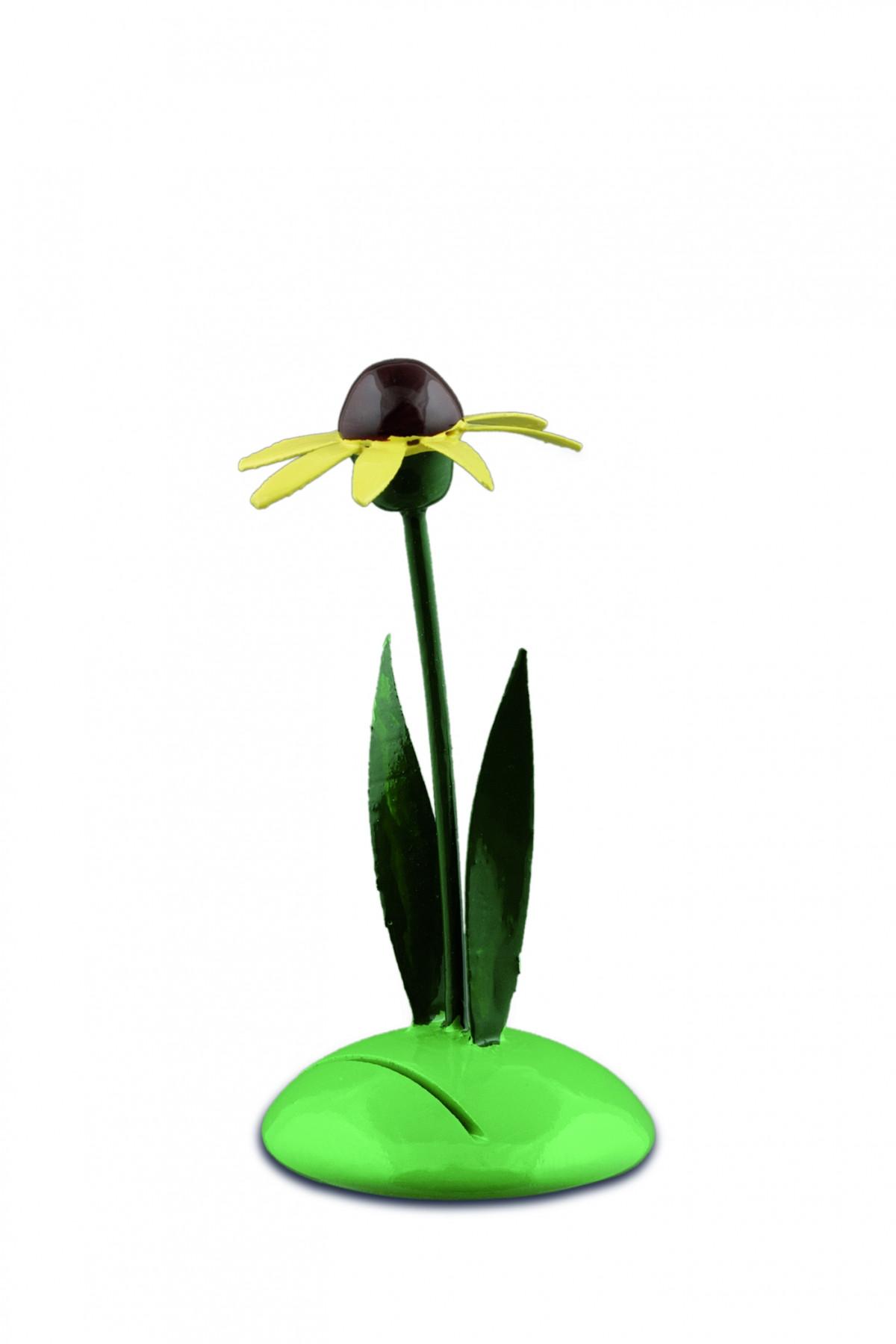 tischkartenhalter gelber sonnenhut erzgebirgskunst drechsel. Black Bedroom Furniture Sets. Home Design Ideas