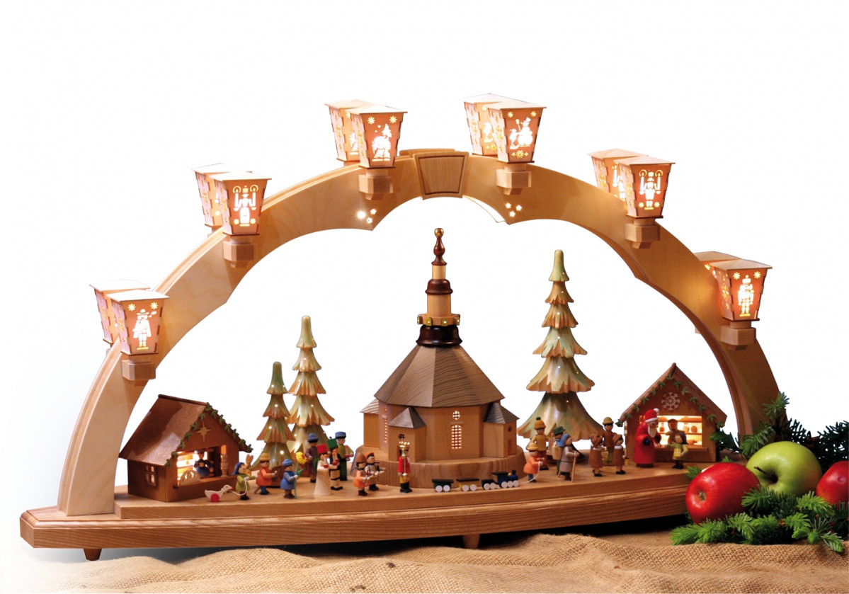 schwibbogen weihnachtsmarkt in seiffen erzgebirgskunst. Black Bedroom Furniture Sets. Home Design Ideas