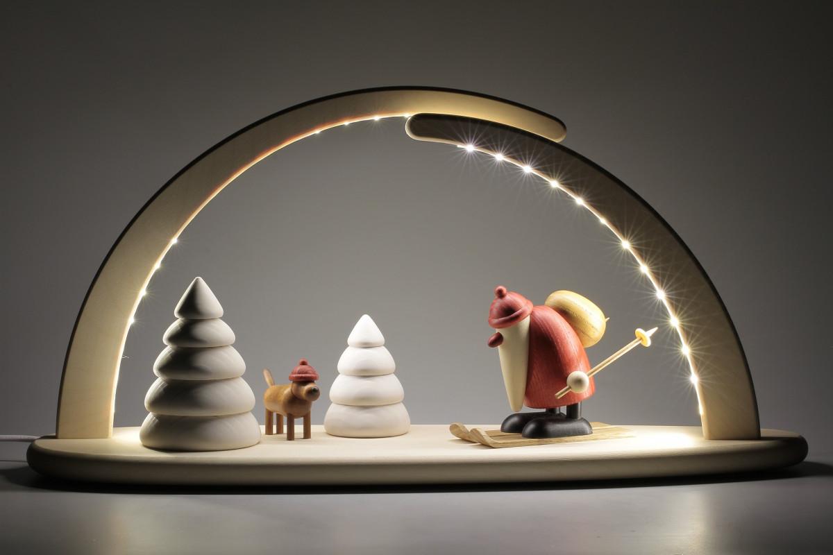 led schwibbogen mit bj rn k hler weihnachtsmotiv erzgebirgskunst drechsel. Black Bedroom Furniture Sets. Home Design Ideas