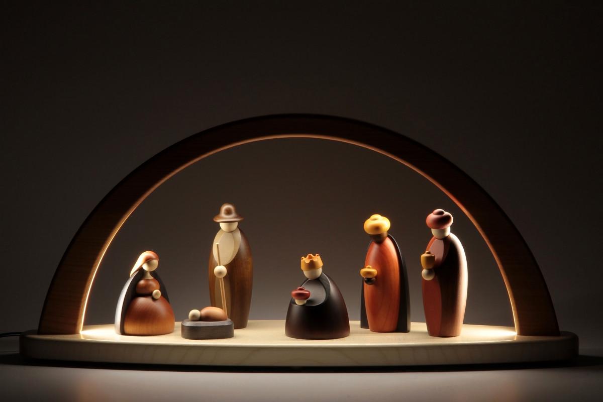 LED-Lichterbogen mit Björn Köhler Krippe Figuren - Erzgebirgskunst ...