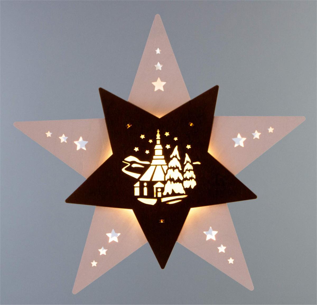 Led fensterbild stern seiffener kirche erzgebirgskunst drechsel - Led fensterbild ...