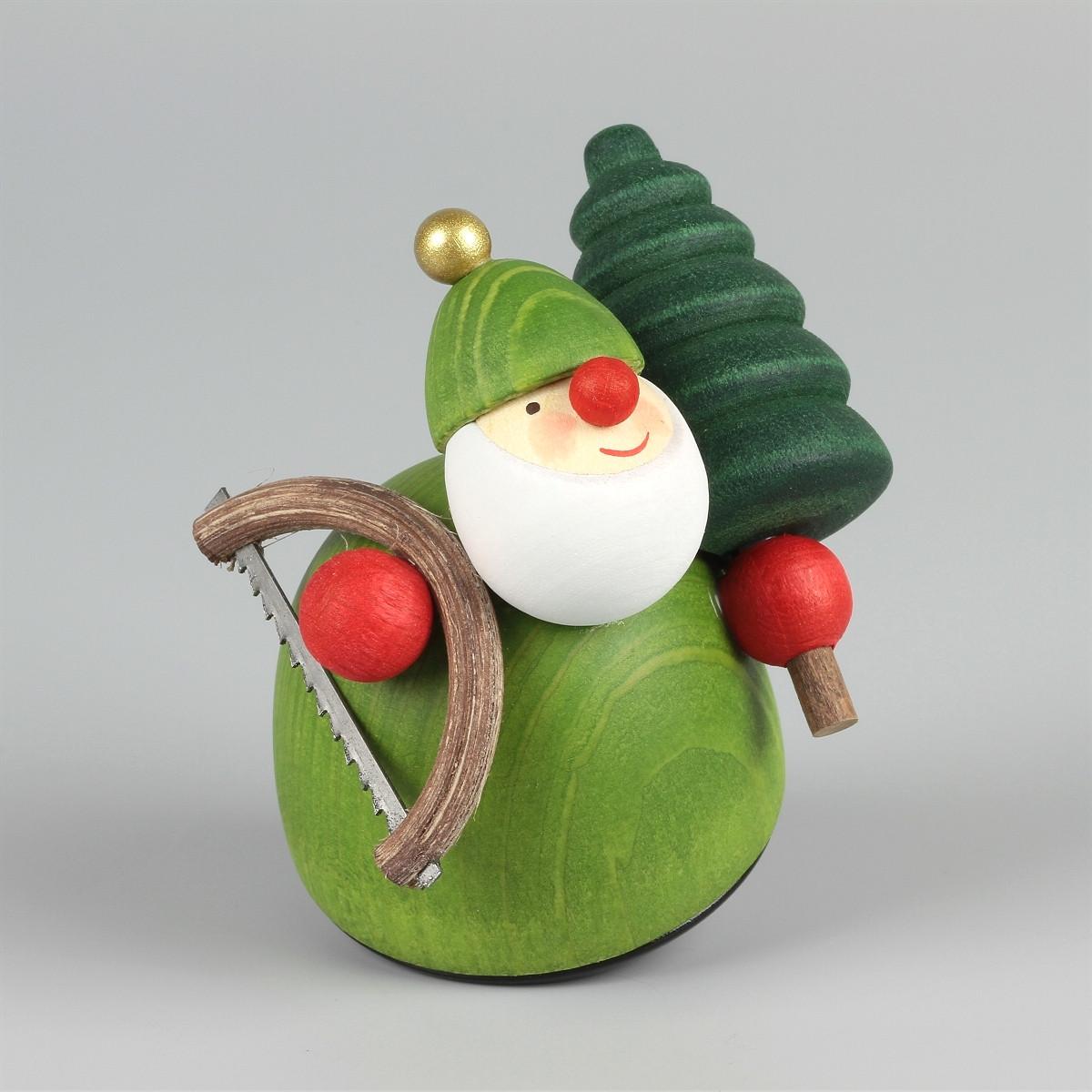 dekofigur picus mit weihnachtsbaum und s ge erzgebirgskunst drechsel. Black Bedroom Furniture Sets. Home Design Ideas
