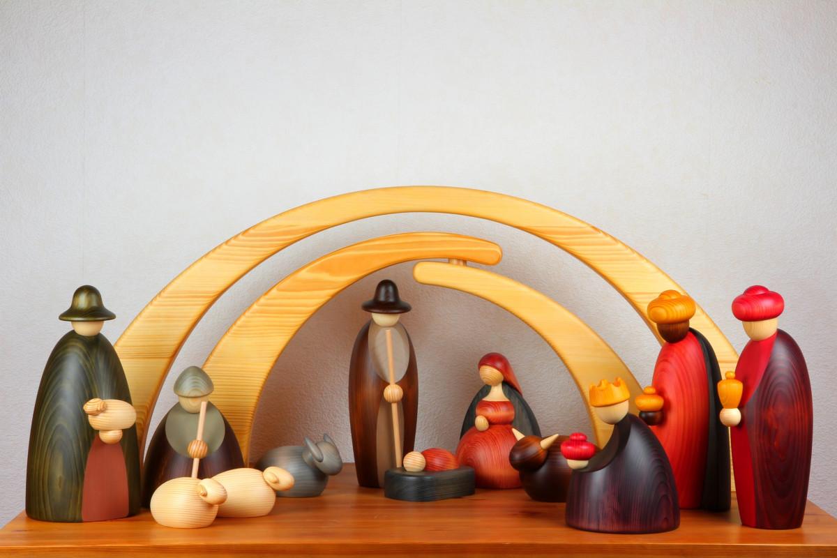 Moderne Weihnachtskrippe.Weihnachtskrippe Krippenfiguren 14 Teilig Extragroß Exklusiv