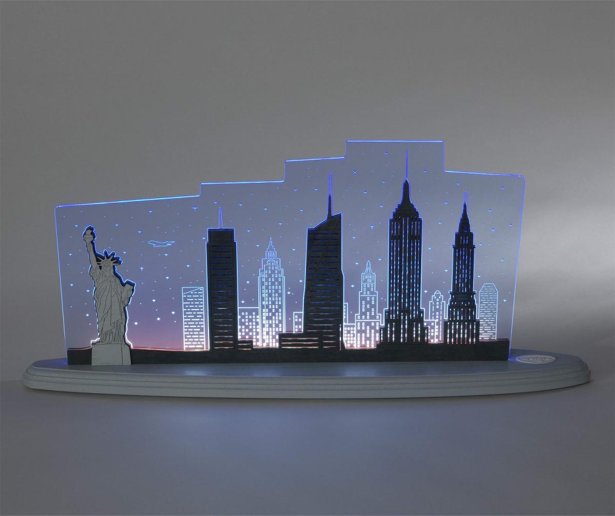 led motivleuchte 39 new york new york 39 erzgebirgskunst drechsel. Black Bedroom Furniture Sets. Home Design Ideas