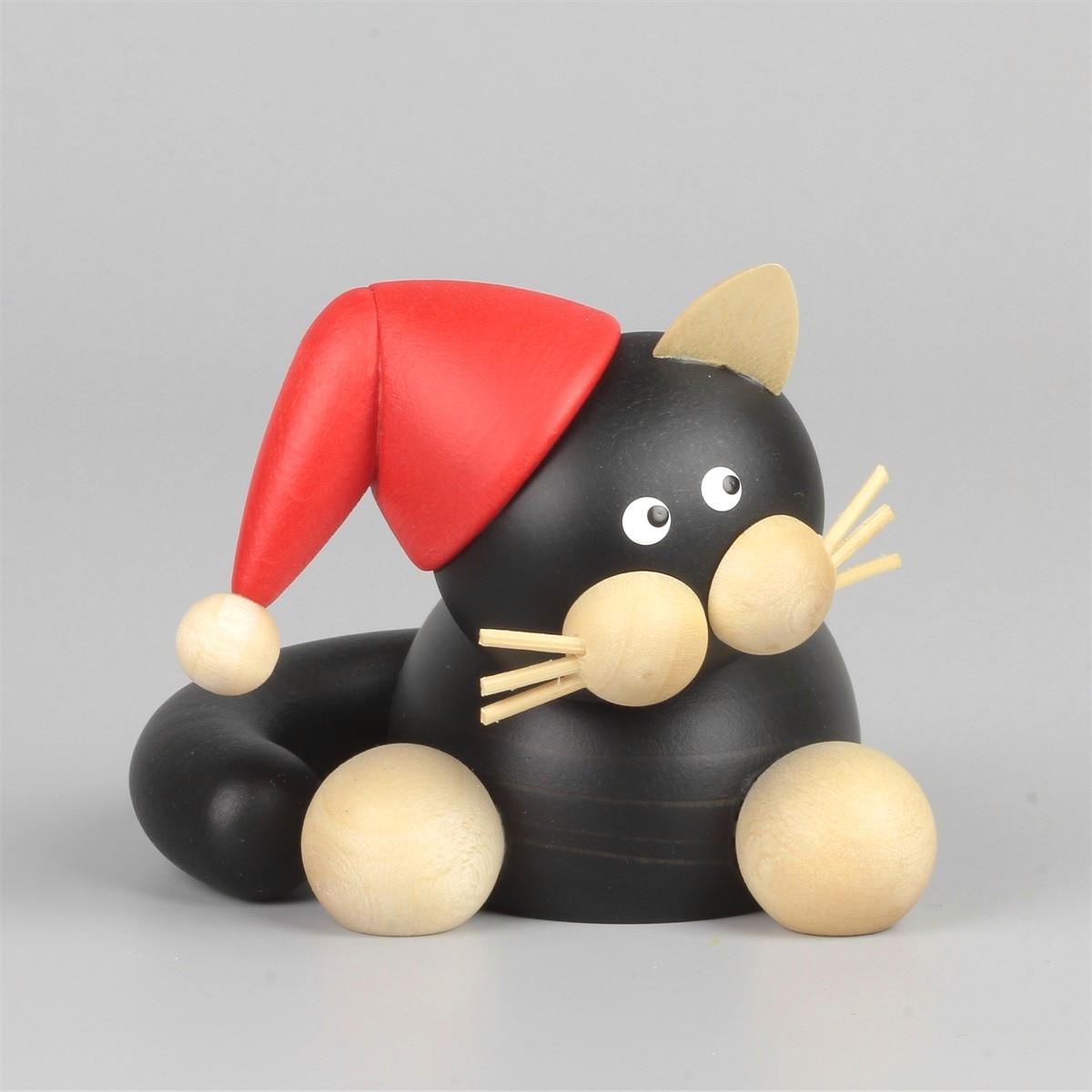 weihnachts schmusekater sammy erzgebirgskunst drechsel. Black Bedroom Furniture Sets. Home Design Ideas