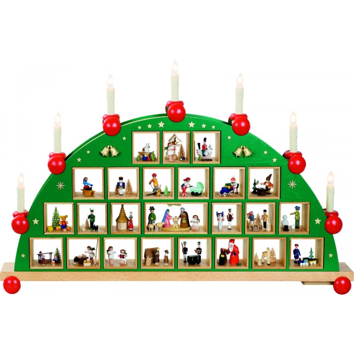 schwibbogen adventskalender erzgebirgskunst drechsel. Black Bedroom Furniture Sets. Home Design Ideas