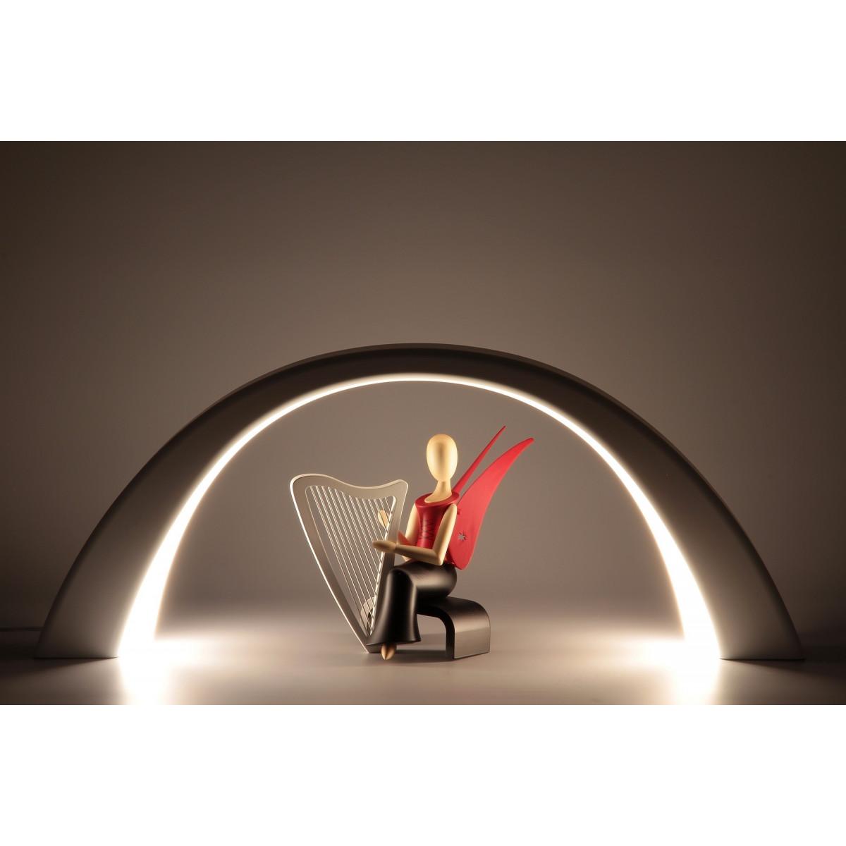 led lichterbogen schwibbogen mit innenbeleuchtung wei erzgebirgskunst drechsel. Black Bedroom Furniture Sets. Home Design Ideas