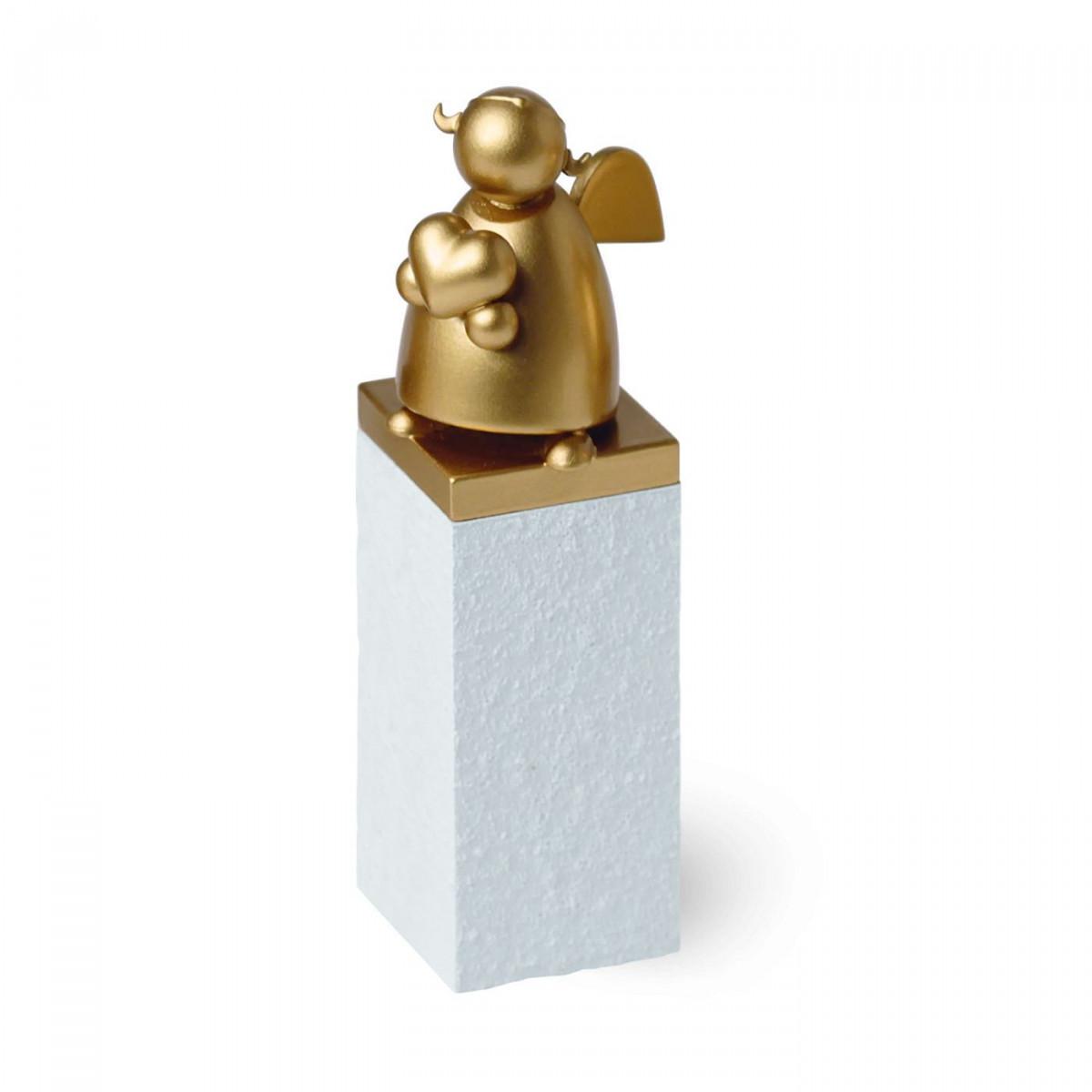 schutzengel gold mit herz erzgebirgskunst drechsel. Black Bedroom Furniture Sets. Home Design Ideas