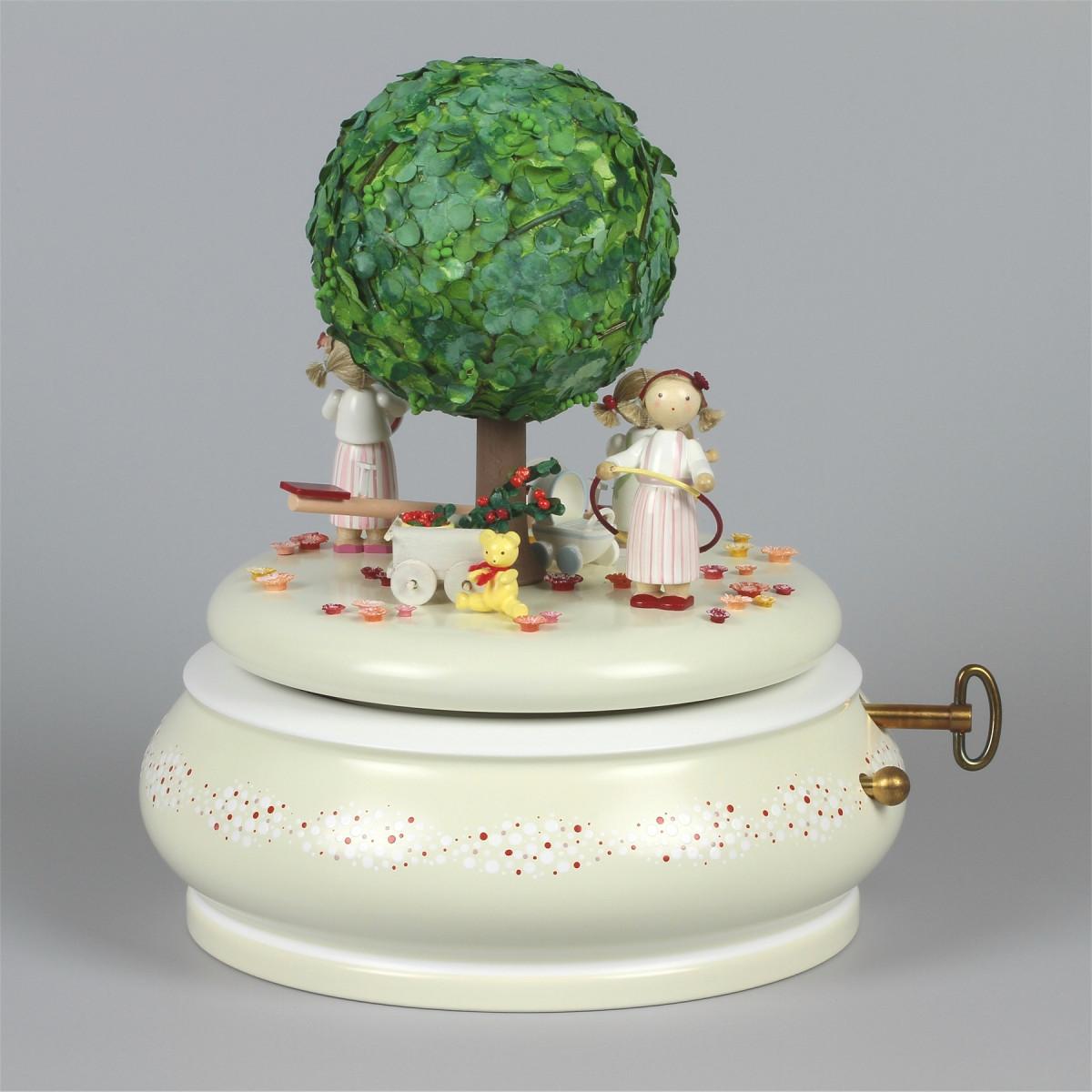 spieldose der alte apfelbaum sommer erzgebirgskunst drechsel. Black Bedroom Furniture Sets. Home Design Ideas