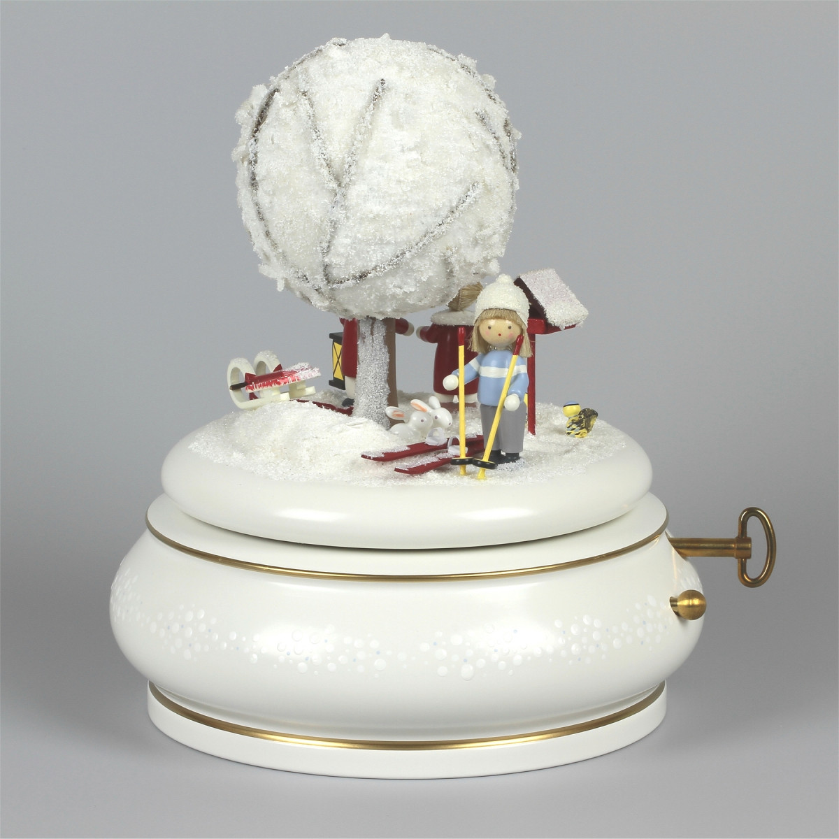 spieldose der alte apfelbaum winter erzgebirgskunst drechsel. Black Bedroom Furniture Sets. Home Design Ideas