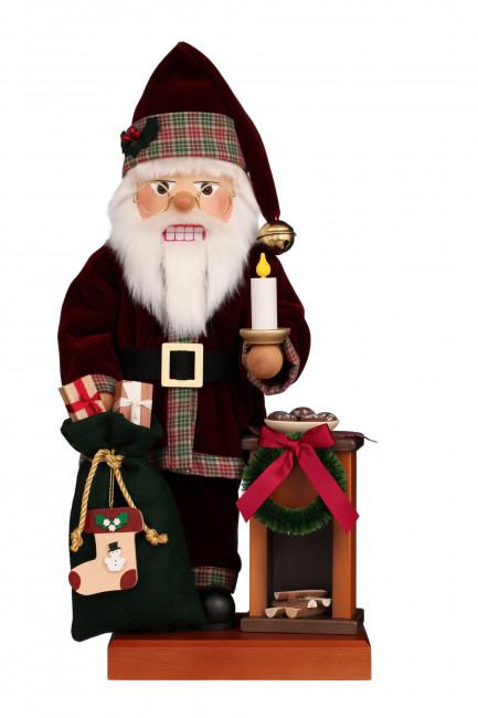 Nussknacker Weihnachtsmann am Kamin