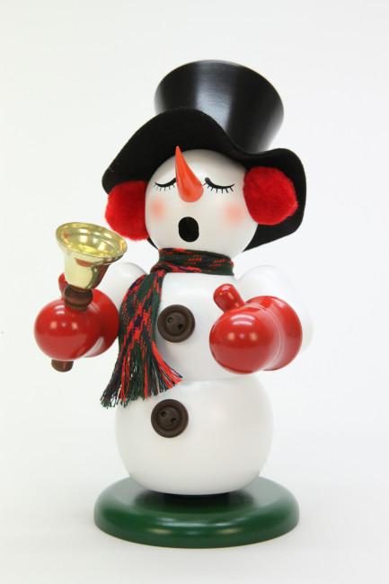 Räuchermännchen Schneemann mit Glocke