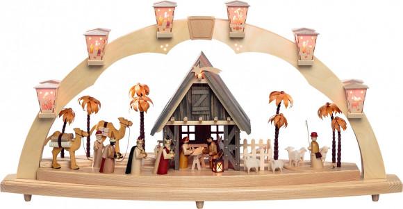 Schwibbogen Christi Geburt mit Bewegung