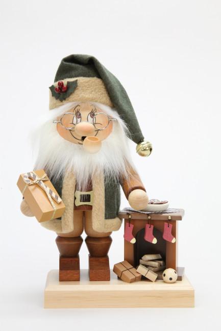Räuchermännchen Wichtel Weihnachtsmann am Kamin