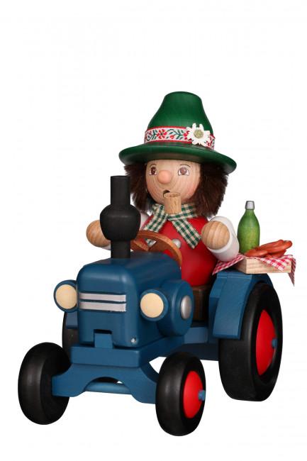 Räuchermännchen Bayer auf Traktor