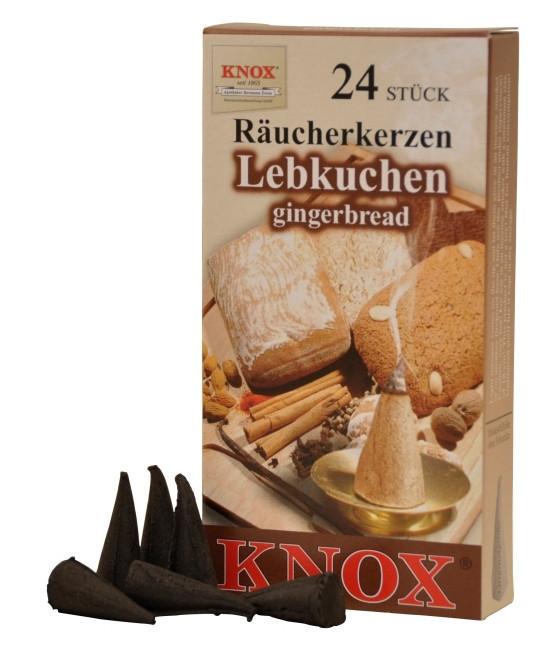 Räucherkerzen  - Gewürze - Lebkuchen 35g, 24 Stk. Packung