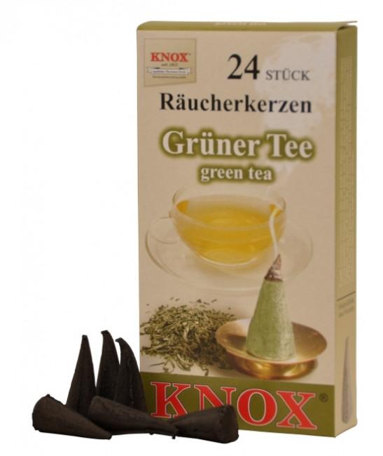 Räucherkerzen  - Gewürze - Grüner Tee 35g, 24 Stk. Packung