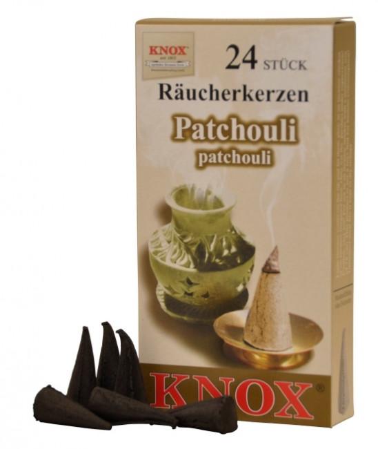 Räucherkerzen  - Patchouli 35g, 24 Stk. Packung
