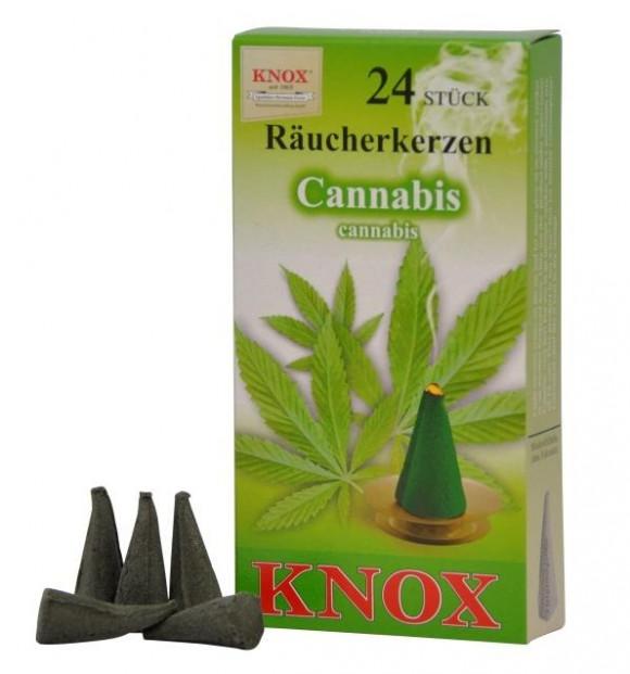 Räucherkerzen  - Exotisch  Cannabis 35g, 24 Stk. Packung