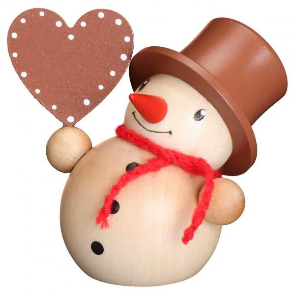 Schneemann mit Herz natur