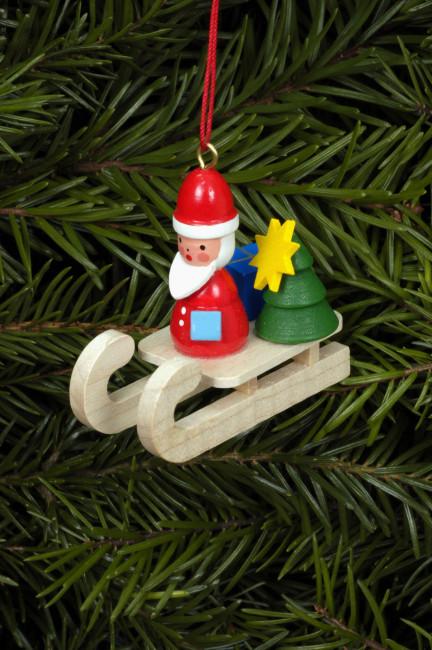 Baumbehang Nikolaus auf Schlitten