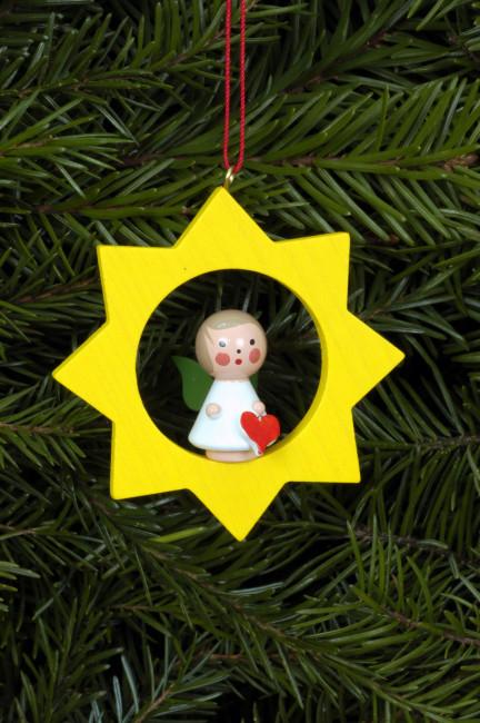 Baumbehang Miniengel im Stern