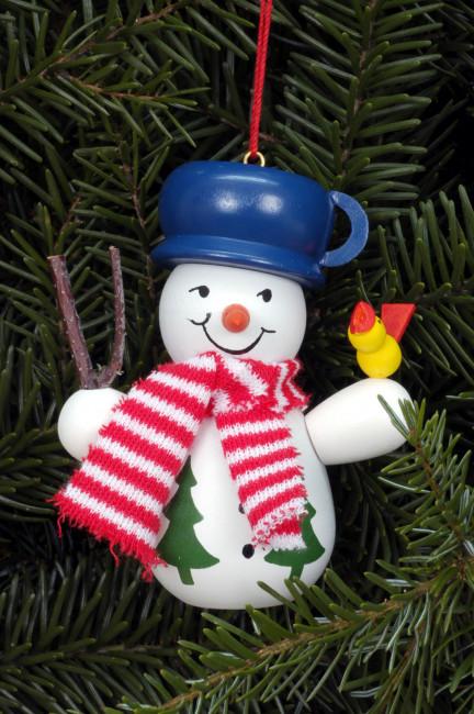 Baumbehang Schneemann mit Nachttopf