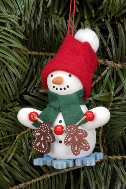Baumbehang Schneemann mit Lebkuchen