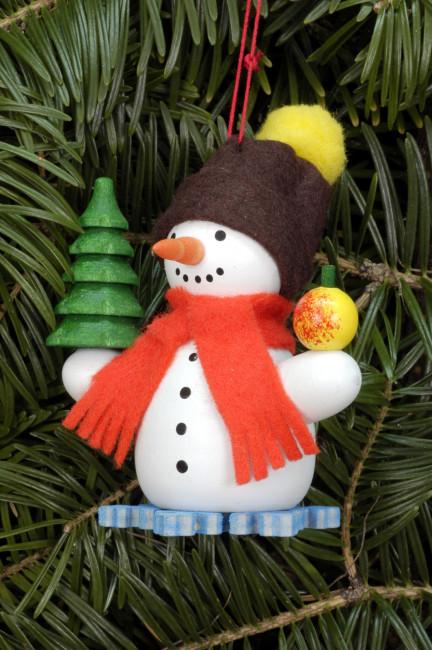 Baumbehang Schneemann mit Baum