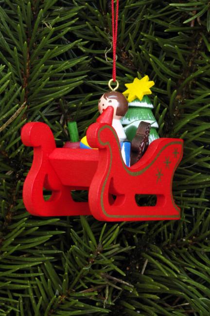 Baumbehang als Weihnachtsschlitten