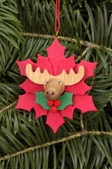 Baumbehang Weihnachtsstern mit Elch