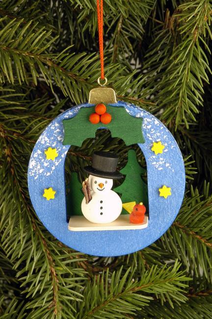 Baumbehang Kugel mit Schneemann