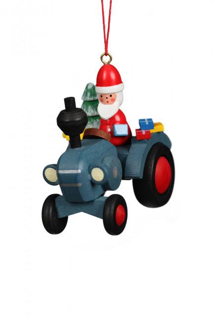 Baumbehang Traktor mit Weihnachtsman
