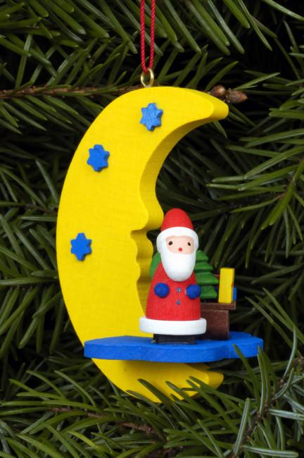 Baumbehang Weihnachtsmann am Mond