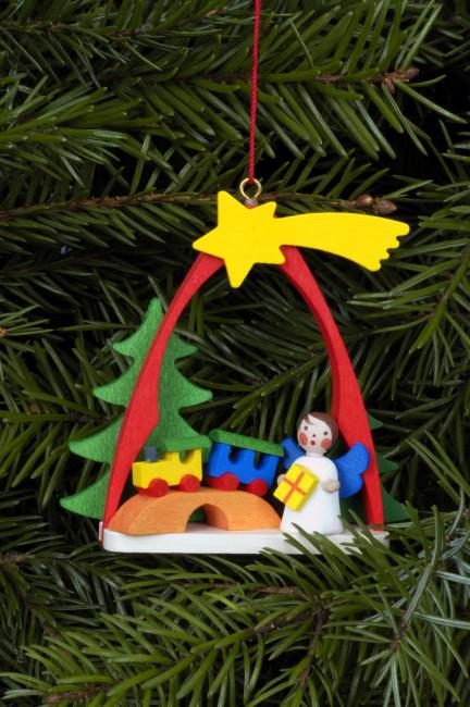 Baumbehang Engel im Bogen mit Zug