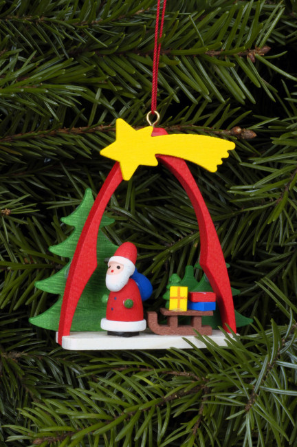 Baumbehang Weihnachtsmann im Bogen