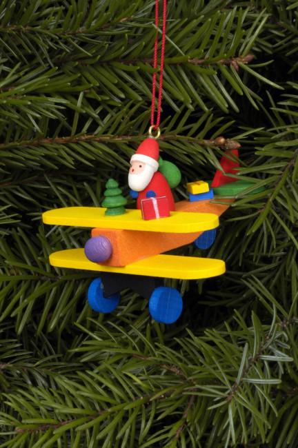 Baumbehang Weihnachtsmann auf Flieger