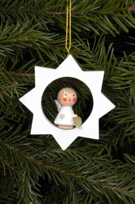 Baumbehang Engel im weißen Stern