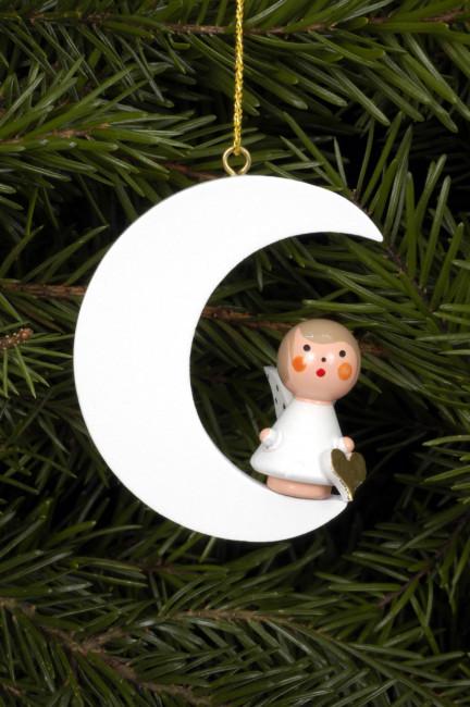 Baumbehang Engel im weißen Mond