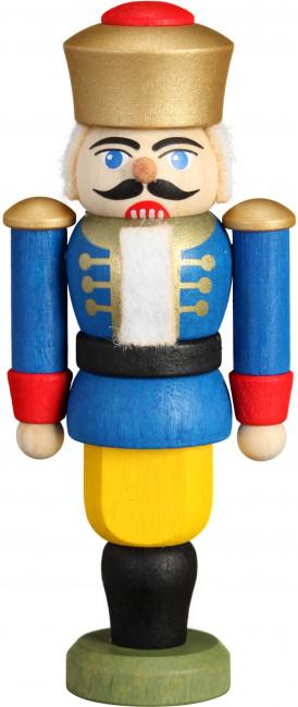 Mini Nussknacker König blau