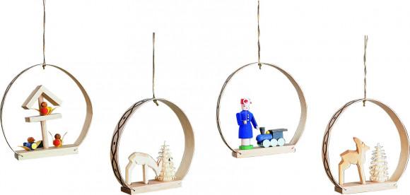 Baumbehang Ornamente, 4-teilig