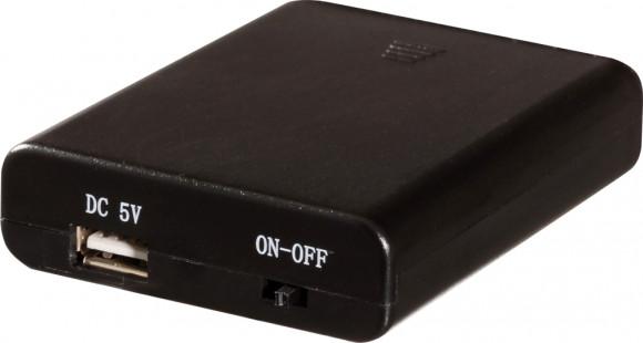 Batteriebox für Schwibbögen mit USB-Anschluß