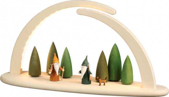 LED-Leuchterbogen mit Motiv Waldszene, groß