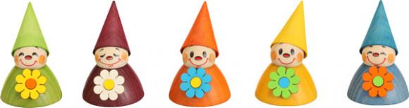 Wippelfiguren Blumen-Wippel, 5-teilig