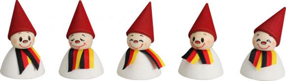 Wippelfiguren Deutsche Fan-Wippel mit Schal, 5-teilig